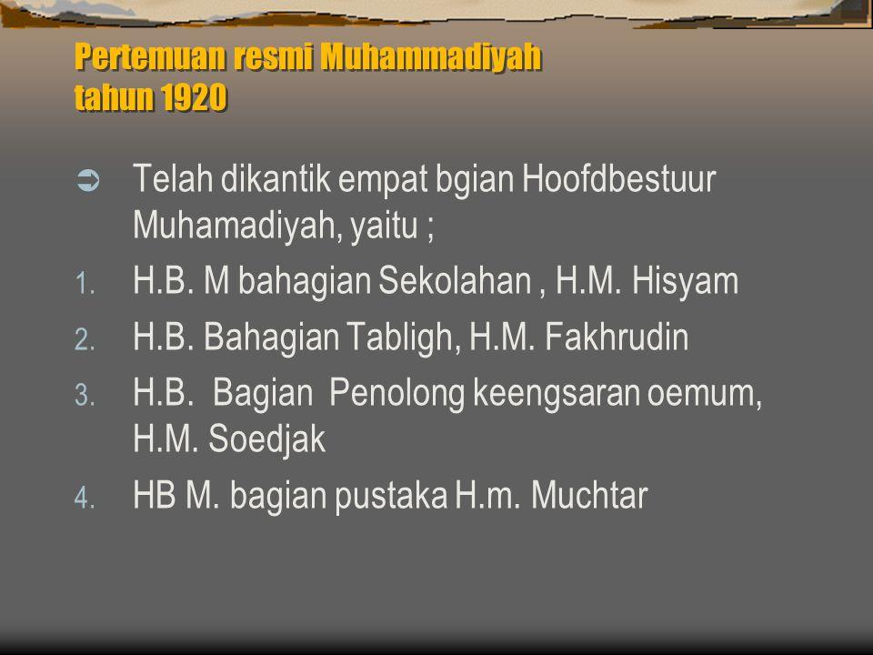 Pertemuan resmi Muhammadiyah tahun 1920