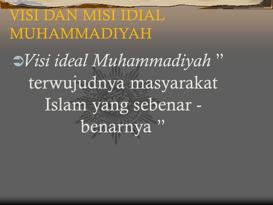 VISI DAN MISI IDIAL MUHAMMADIYAH