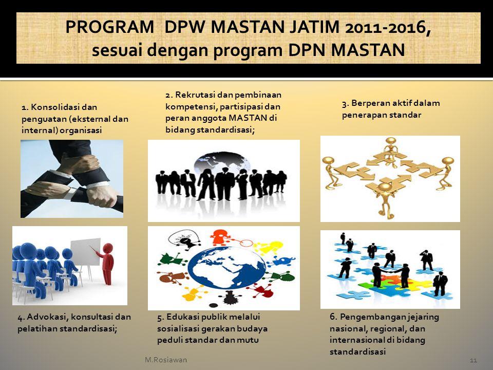 PROGRAM DPW MASTAN JATIM 2011-2016, sesuai dengan program DPN MASTAN