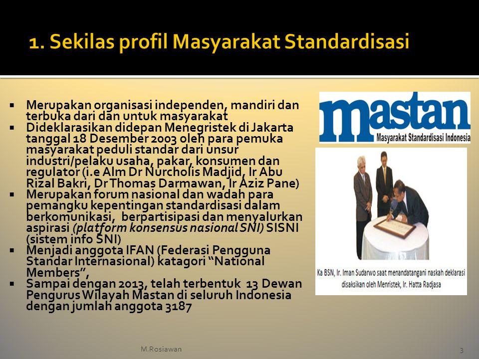 1. Sekilas profil Masyarakat Standardisasi