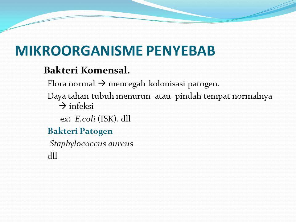 MIKROORGANISME PENYEBAB
