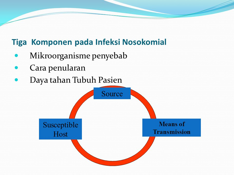 Tiga Komponen pada Infeksi Nosokomial