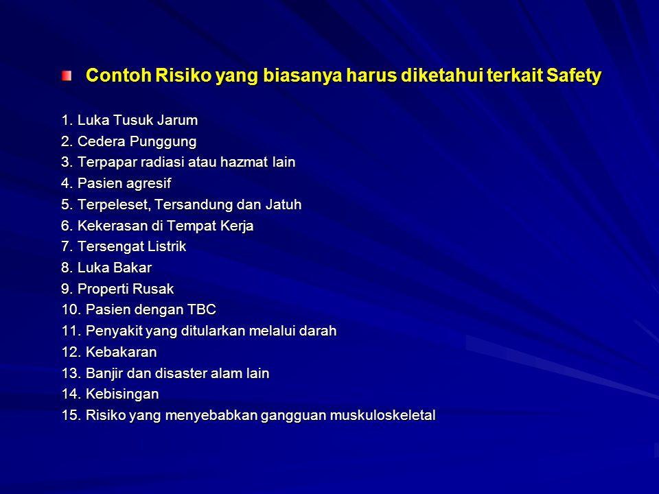 Contoh Risiko yang biasanya harus diketahui terkait Safety