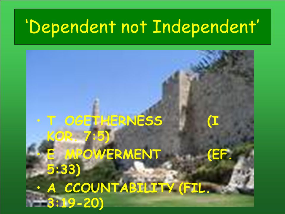 'Dependent not Independent'