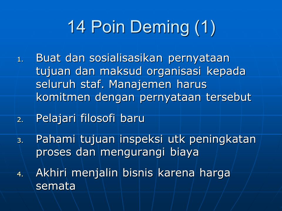 14 Poin Deming (1)