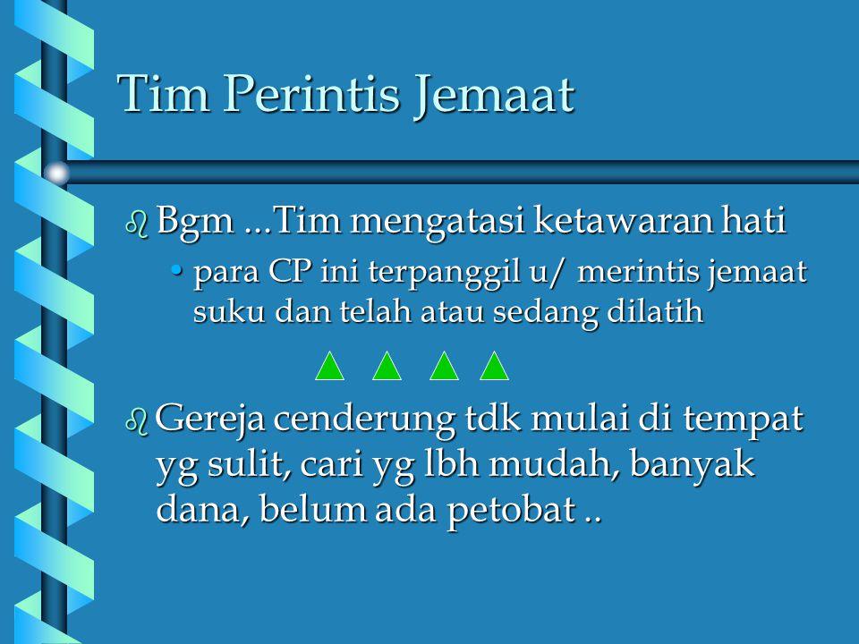 Tim Perintis Jemaat Bgm ...Tim mengatasi ketawaran hati