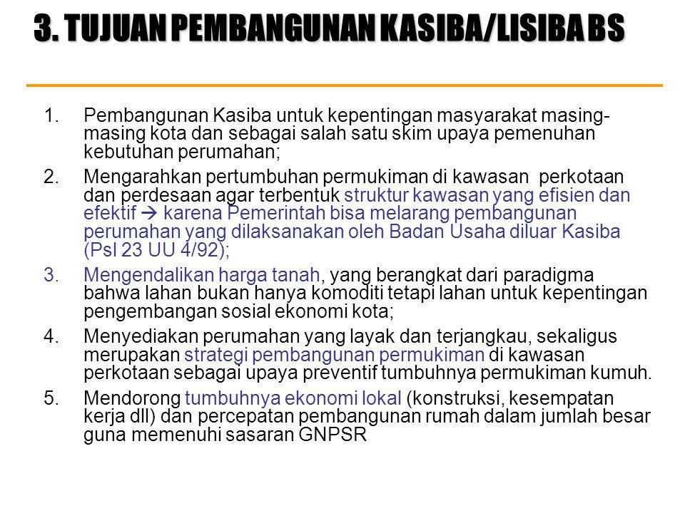 3. TUJUAN PEMBANGUNAN KASIBA/LISIBA BS
