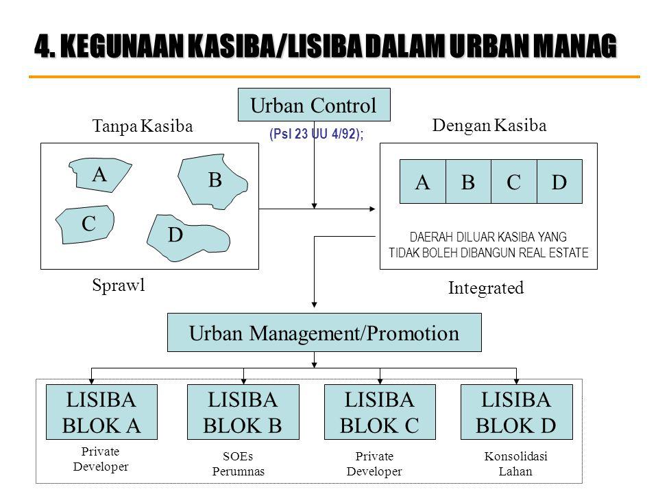 4. KEGUNAAN KASIBA/LISIBA DALAM URBAN MANAG