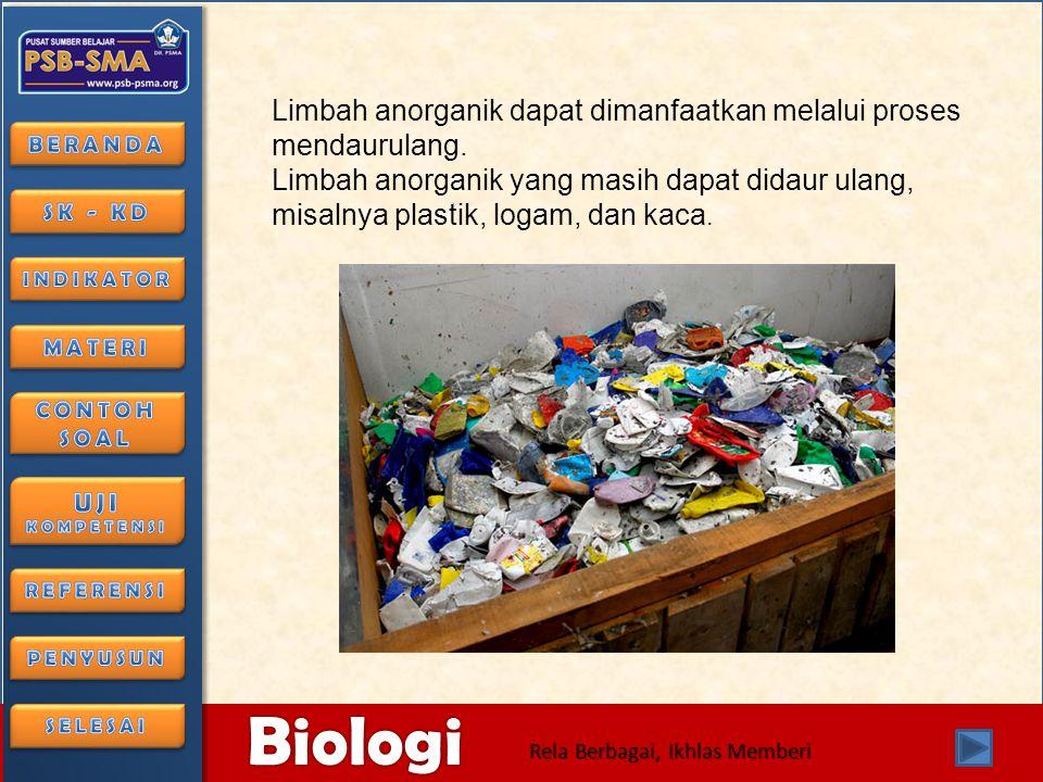 Limbah anorganik dapat dimanfaatkan melalui proses mendaurulang.