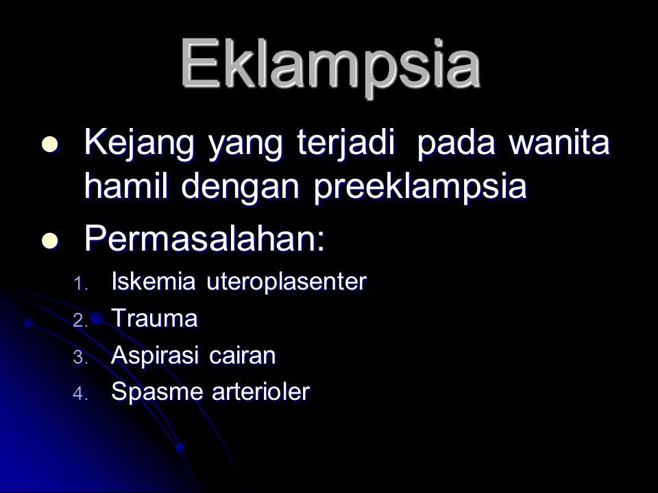 Eklampsia Kejang yang terjadi pada wanita hamil dengan preeklampsia