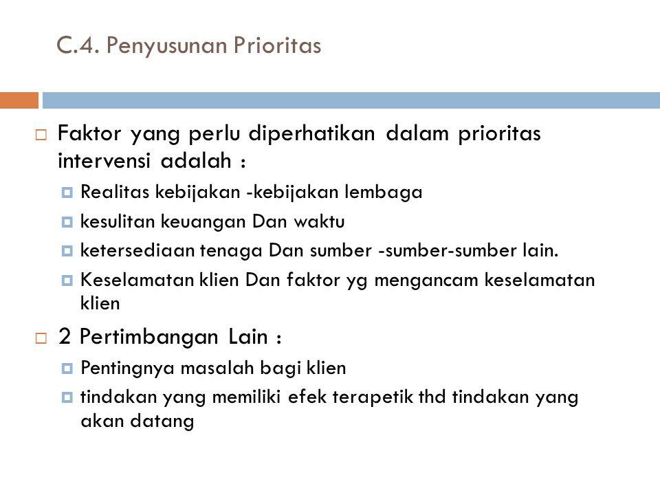 C.4. Penyusunan Prioritas