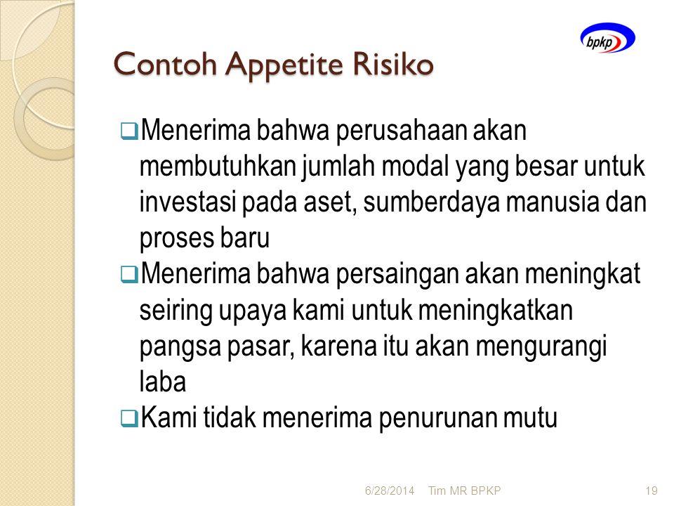 Contoh Appetite Risiko