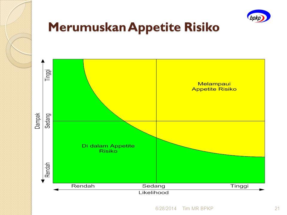 Merumuskan Appetite Risiko