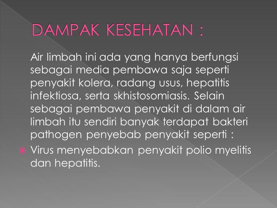 DAMPAK KESEHATAN :
