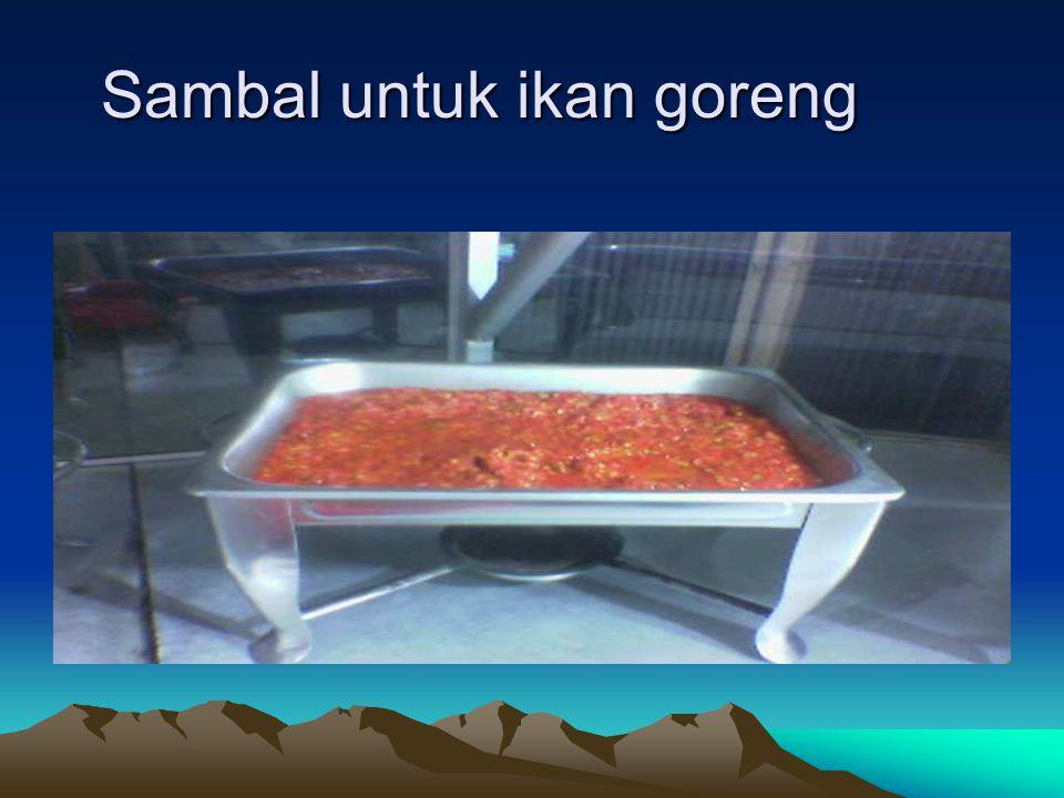 Sambal untuk ikan goreng