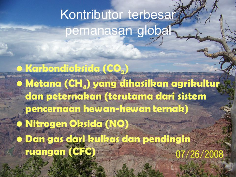 Kontributor terbesar pemanasan global