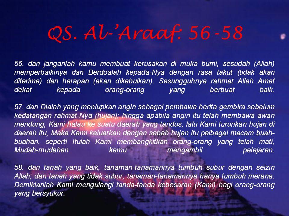 QS. Al-'Araaf: 56-58