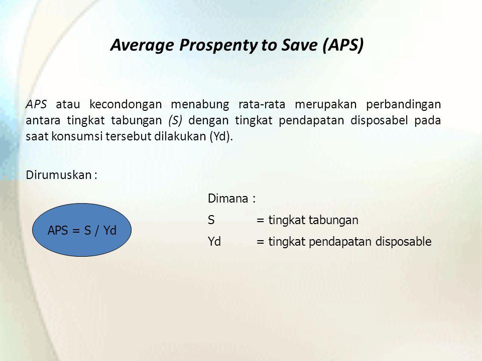 Average Prospenty to Save (APS)