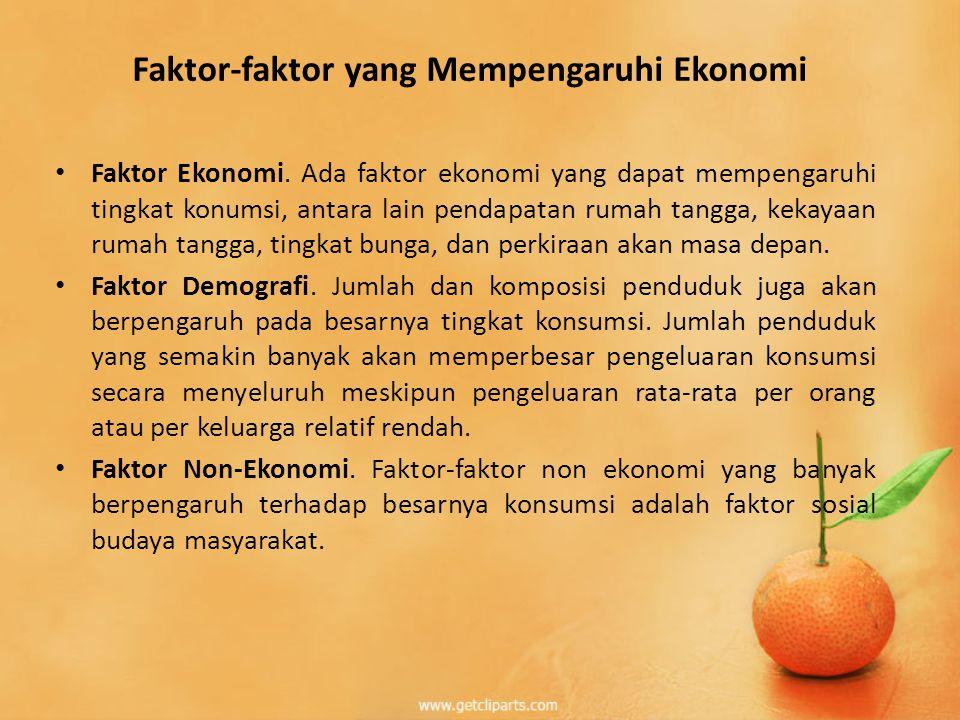 Faktor-faktor yang Mempengaruhi Ekonomi
