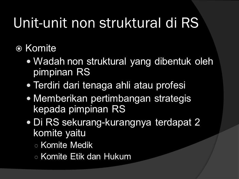 Unit-unit non struktural di RS