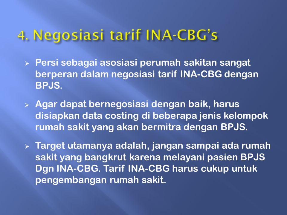 4. Negosiasi tarif INA-CBG's
