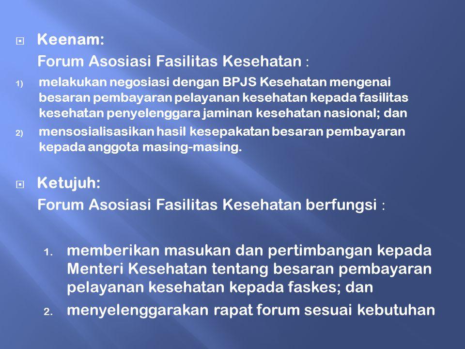 Forum Asosiasi Fasilitas Kesehatan :