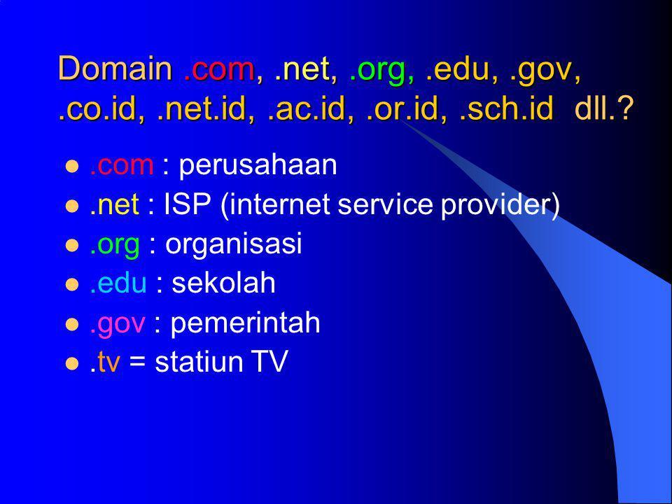 Domain. com,. net,. org,. edu,. gov,. co. id,. net. id,. ac. id,. or