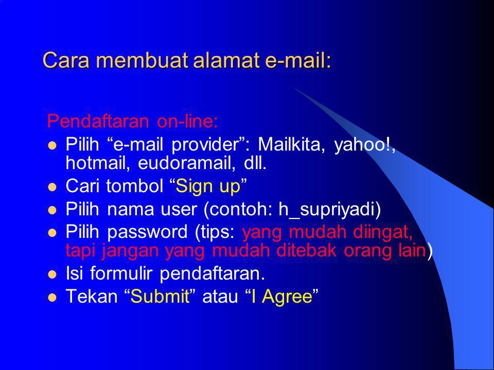 Cara membuat alamat e-mail: