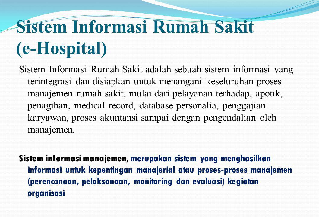 Sistem Informasi Rumah Sakit (e-Hospital)