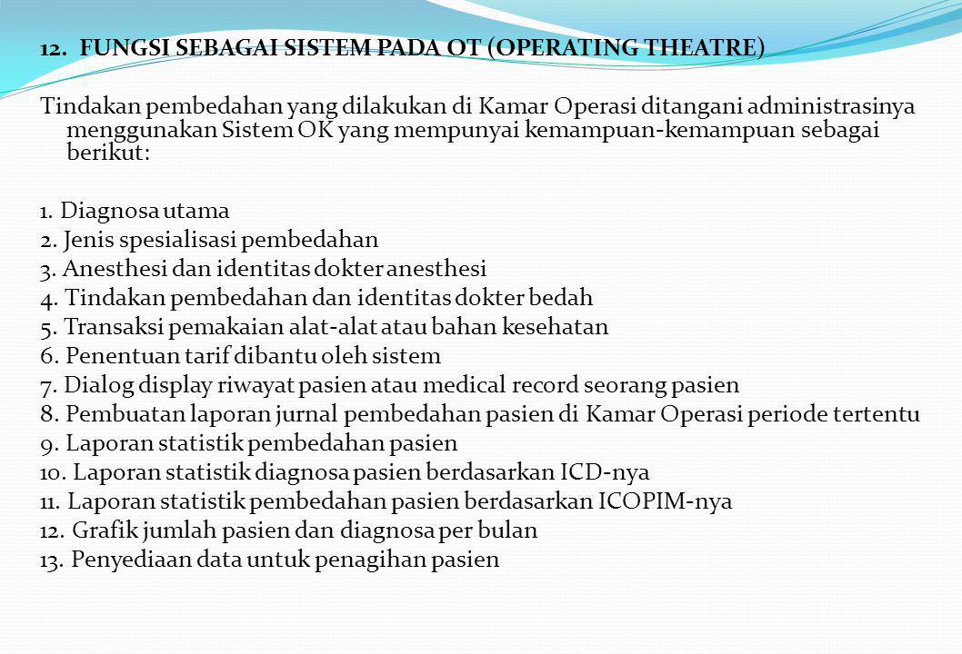 12. FUNGSI SEBAGAI SISTEM PADA OT (OPERATING THEATRE)