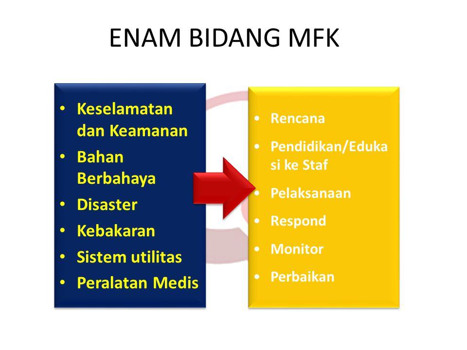 ENAM BIDANG MFK Keselamatan dan Keamanan Bahan Berbahaya Disaster