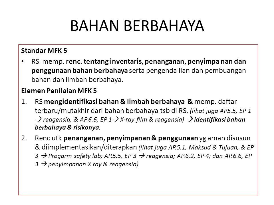 BAHAN BERBAHAYA Standar MFK 5