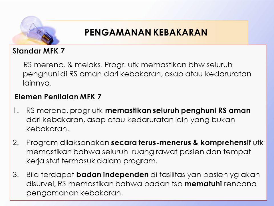 PENGAMANAN KEBAKARAN Standar MFK 7