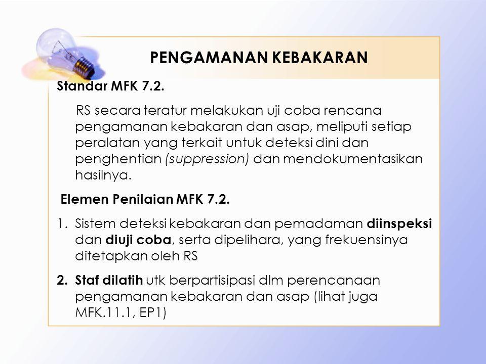PENGAMANAN KEBAKARAN Standar MFK 7.2.