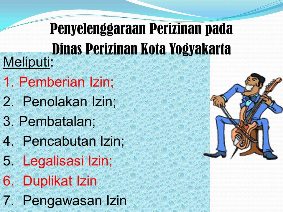 Penyelenggaraan Perizinan pada Dinas Perizinan Kota Yogyakarta