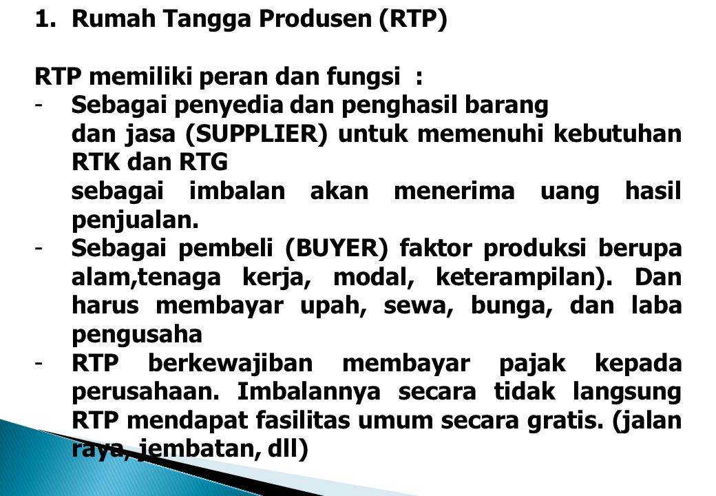 Rumah Tangga Produsen (RTP)
