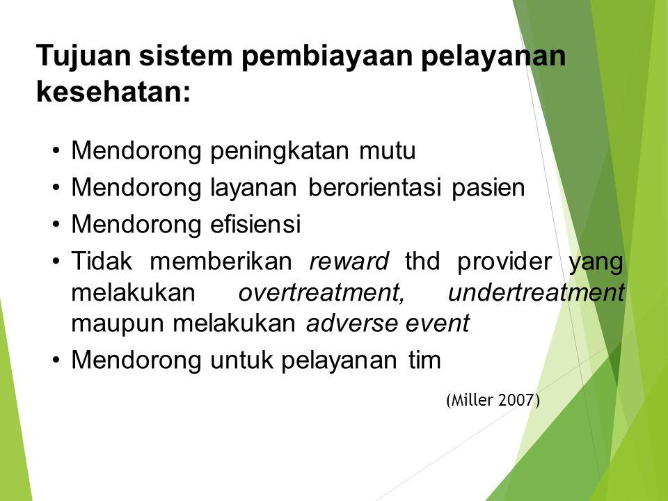 Tujuan sistem pembiayaan pelayanan kesehatan: