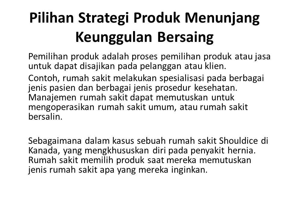Pilihan Strategi Produk Menunjang Keunggulan Bersaing