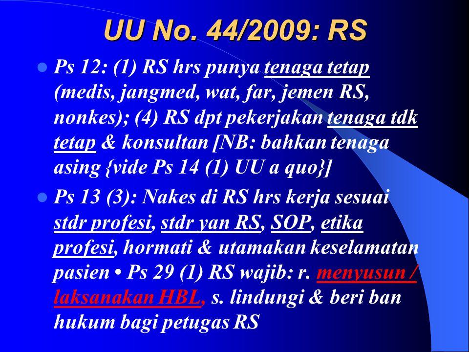 UU No. 44/2009: RS