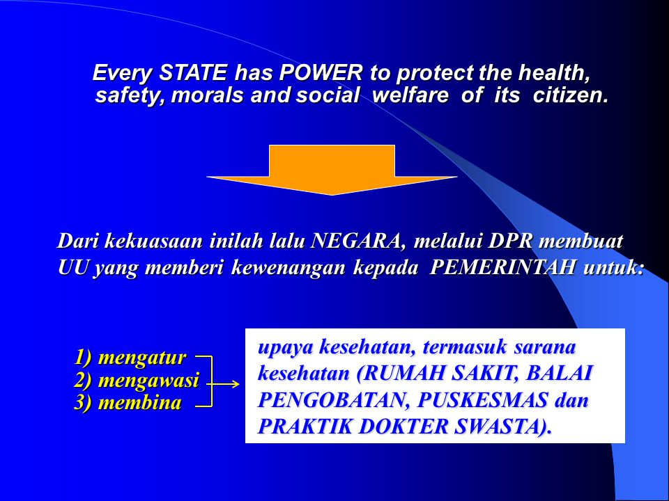 Every STATE has POWER to protect the health,
