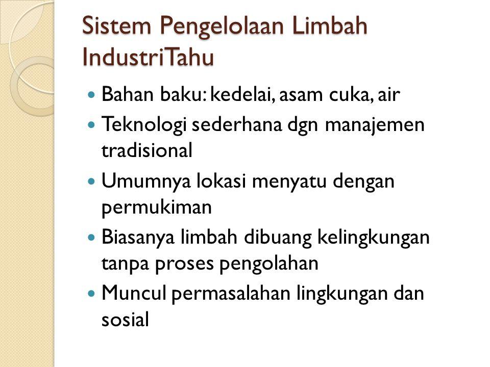 Sistem Pengelolaan Limbah IndustriTahu