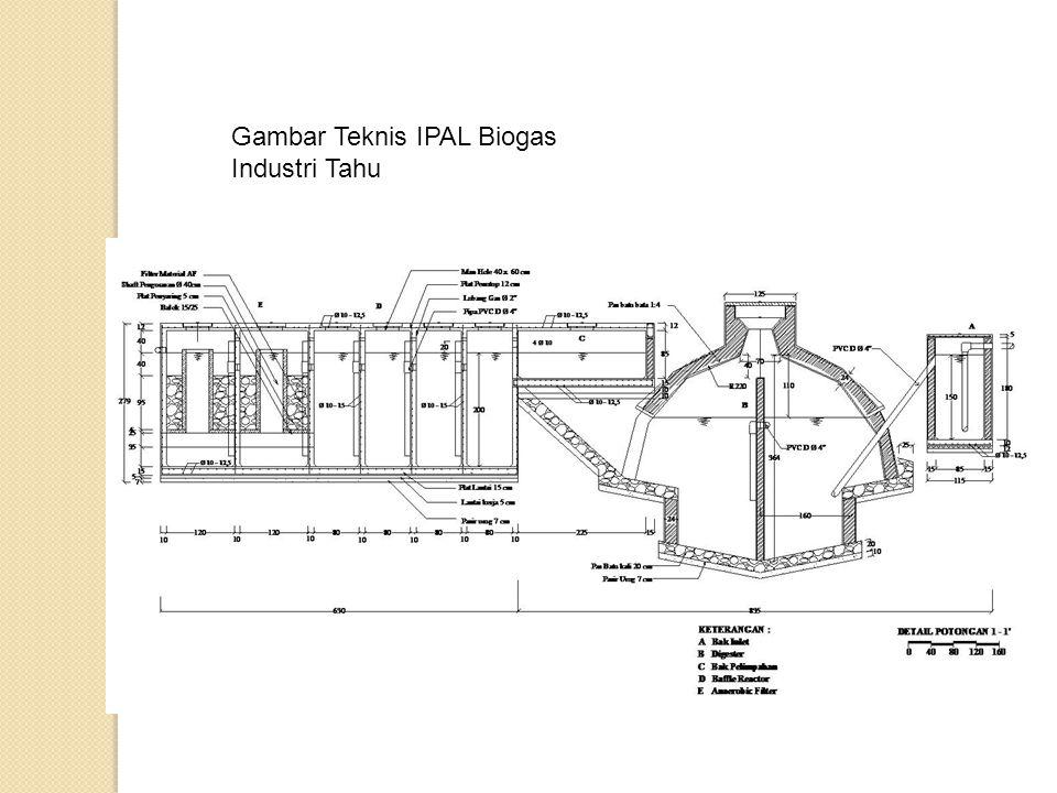 Gambar Teknis IPAL Biogas Industri Tahu