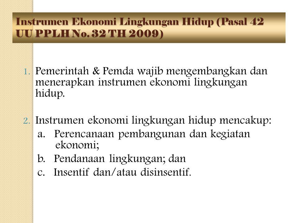 Instrumen Ekonomi Lingkungan Hidup (Pasal 42 UU PPLH No. 32 TH 2009)