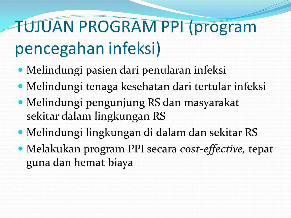 TUJUAN PROGRAM PPI (program pencegahan infeksi)