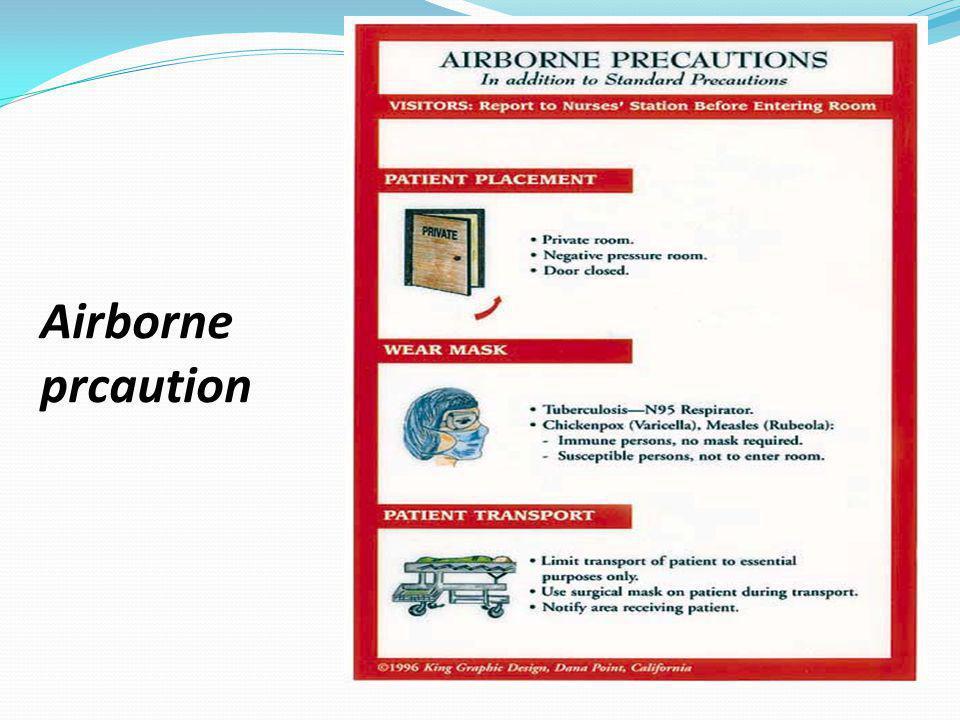 Airborne prcaution