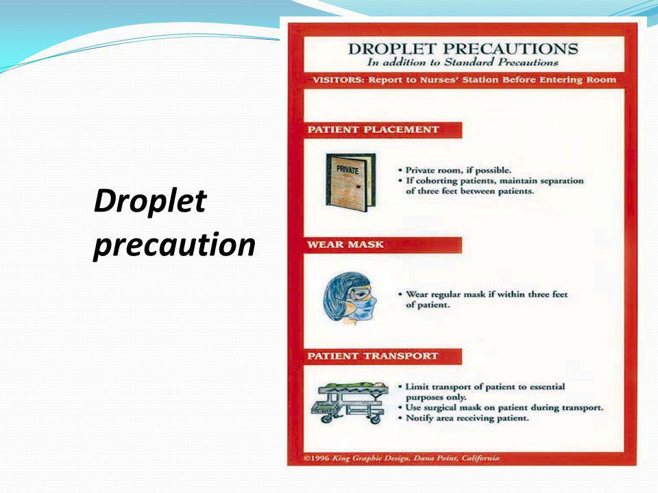 Droplet precaution