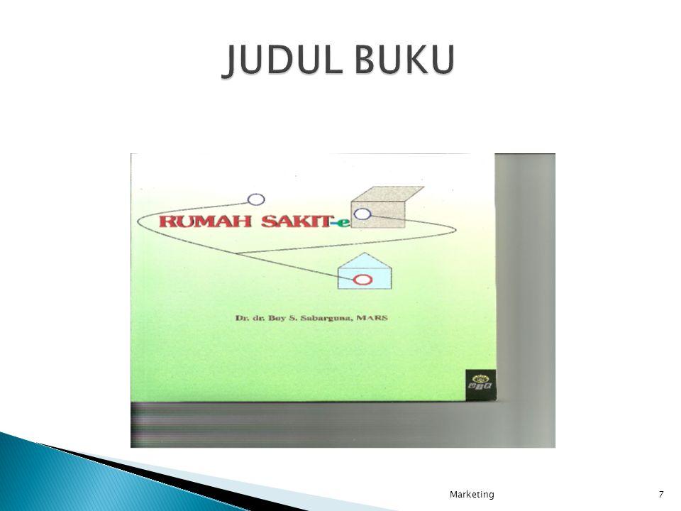 JUDUL BUKU Marketing