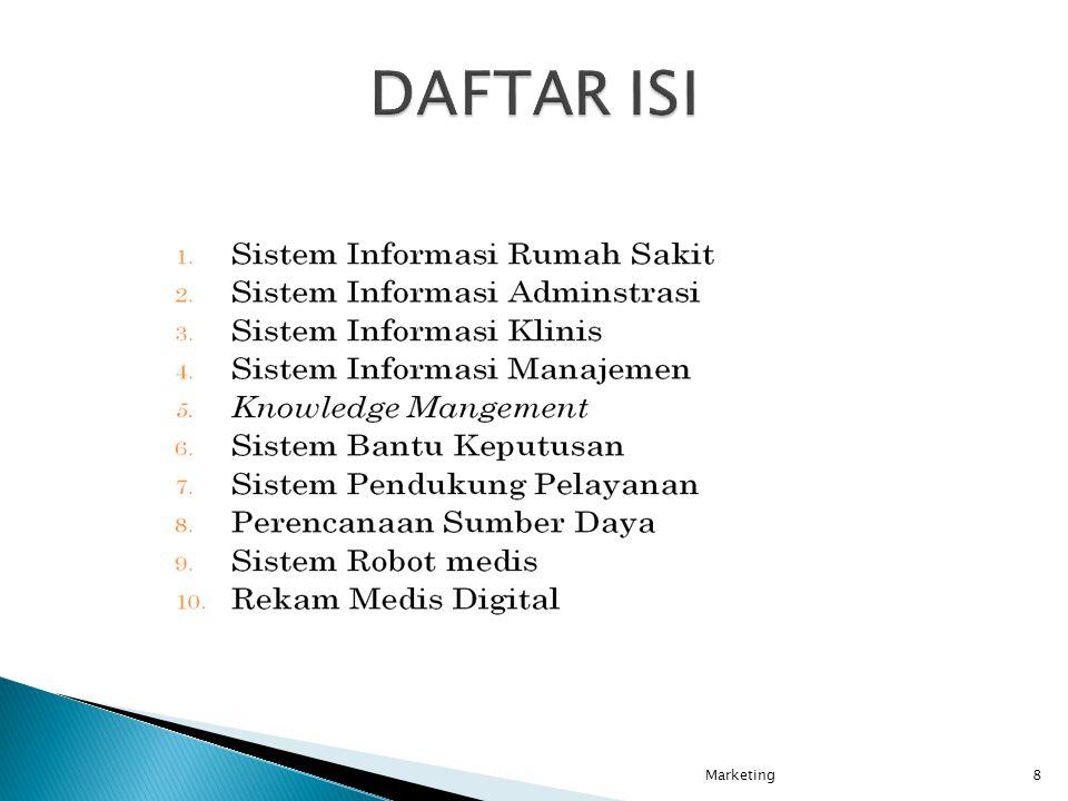 DAFTAR ISI Marketing