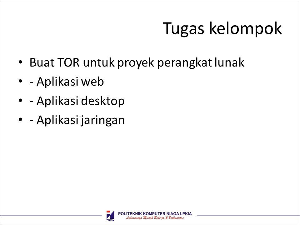 Tugas kelompok Buat TOR untuk proyek perangkat lunak - Aplikasi web