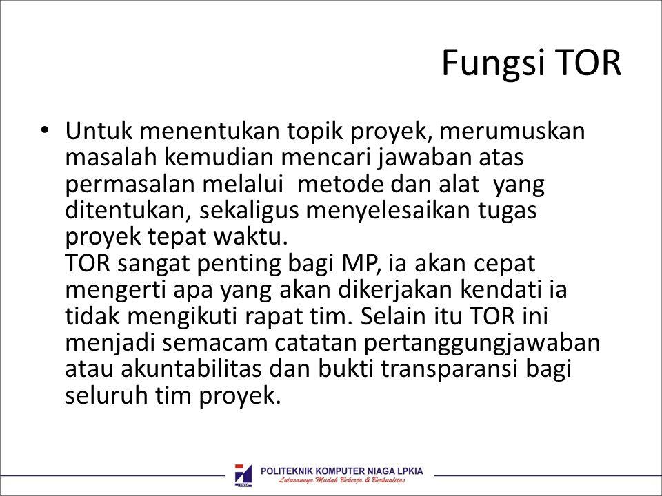 Fungsi TOR